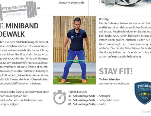 Fitness – Tipp des Monats – Miniband Sidewalk